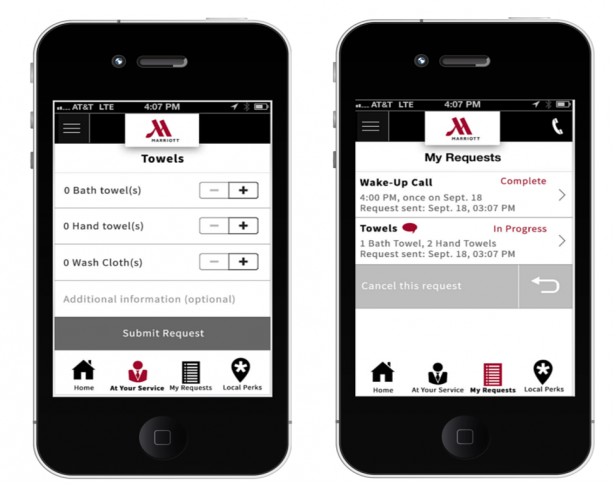 Marriot hotel mobile apps