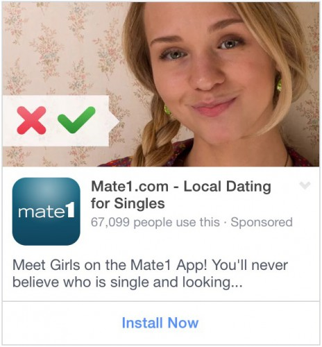 As a man, every single dating app ad I see in my news feed has a picture of an attractive woman. That's not a coincidence; it's smart ad targeting.