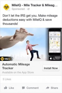 mile IQ fb app ad
